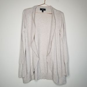 Mossimo oatmeal colored open front cardigan